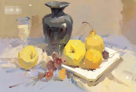 杭州艺考画室色彩静物教程:水果的暗部总是画得脏兮兮的,04