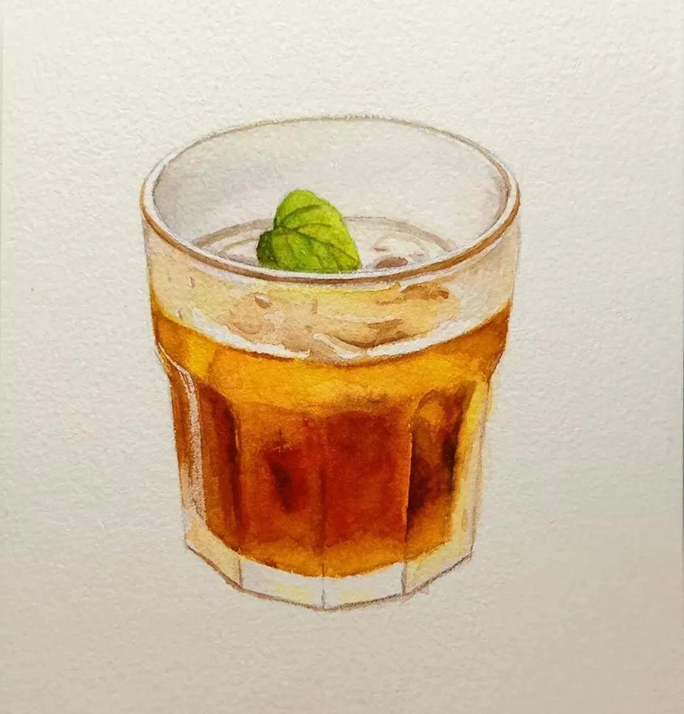 杭州艺考画室水彩教程 | 一杯沁人心扉的凉饮 画法步骤,08