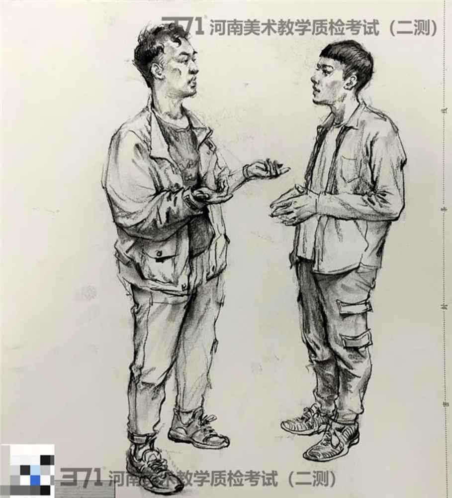 为更好的打磨自己,杭州画室集训班分享2021届河南省二模高分卷,20