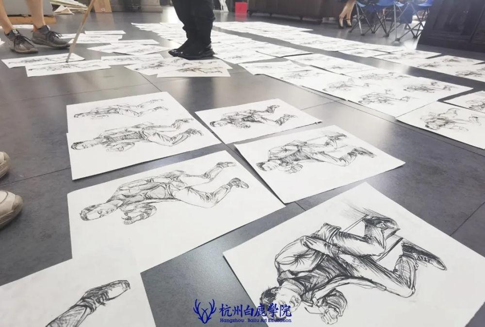 杭州艺考画室日常 | 你说美术生考大学很容易?要不你来试一试,50