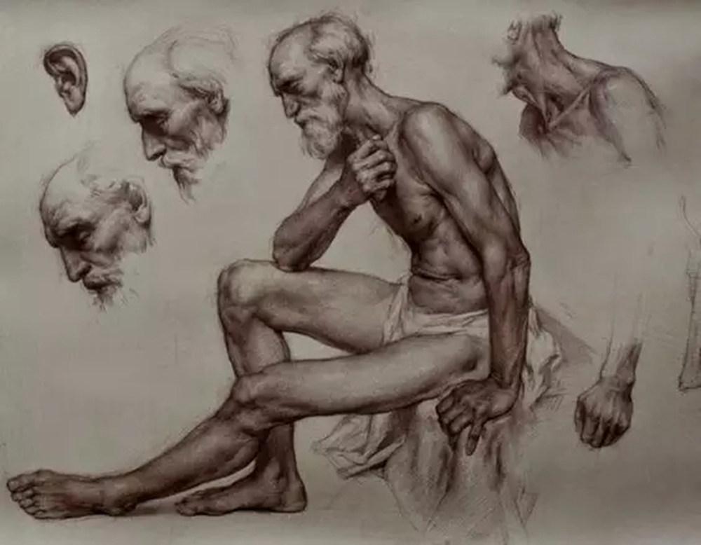如何处理好人物素描的头像?杭州艺考画室带你看看这些作品,10