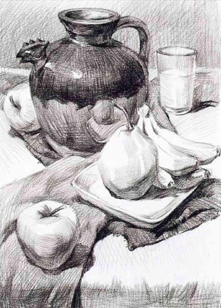 静物素描太难,杭州艺考画室整理的详细教程在里面,15