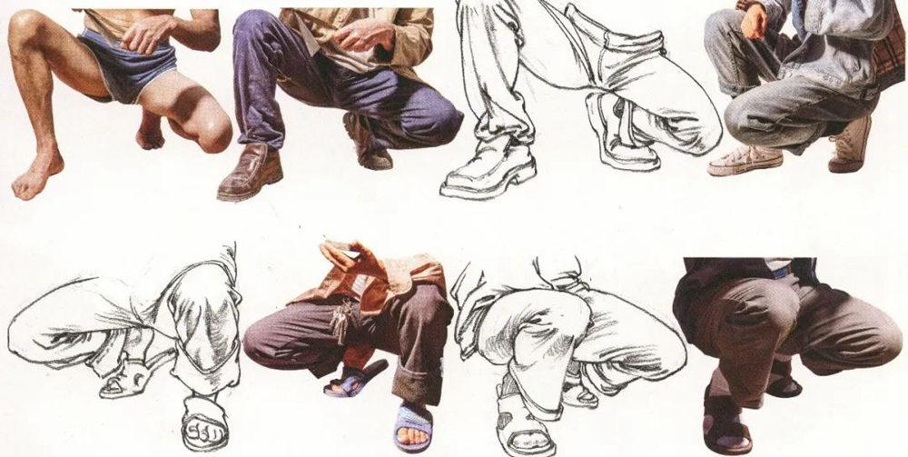 杭州艺考画室超强干货丨速写下肢怎么画?观察是关键,02