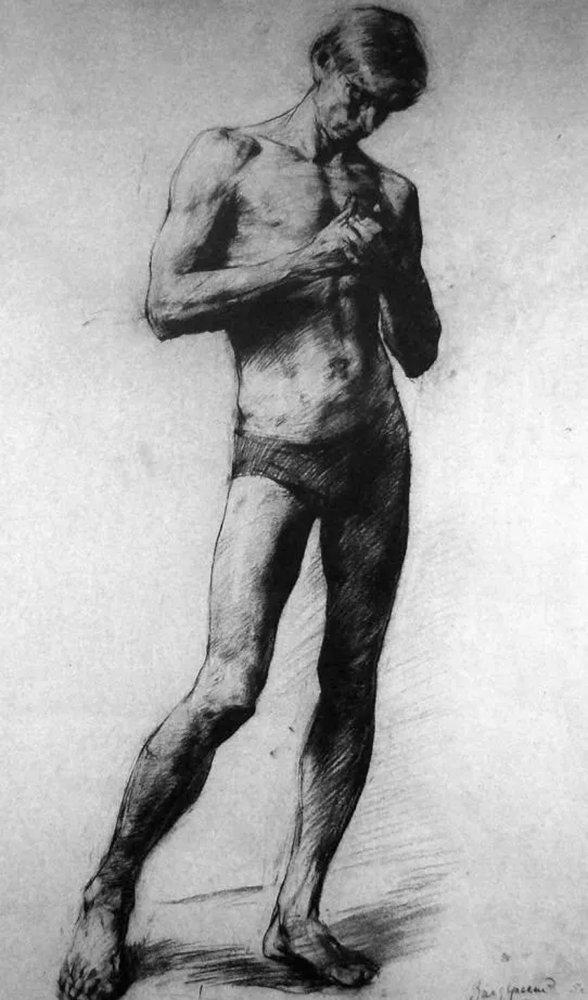 杭州艺考画室给你造型生动,百看不厌的62幅人体素描,14