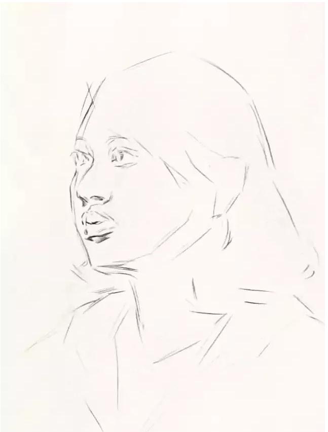 杭州艺考画室素描教学|教你画微胖女青年素描头像,03