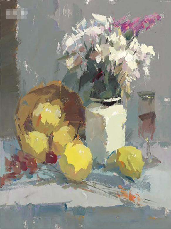 杭州艺考画室色彩静物教程:水果的暗部总是画得脏兮兮的,02