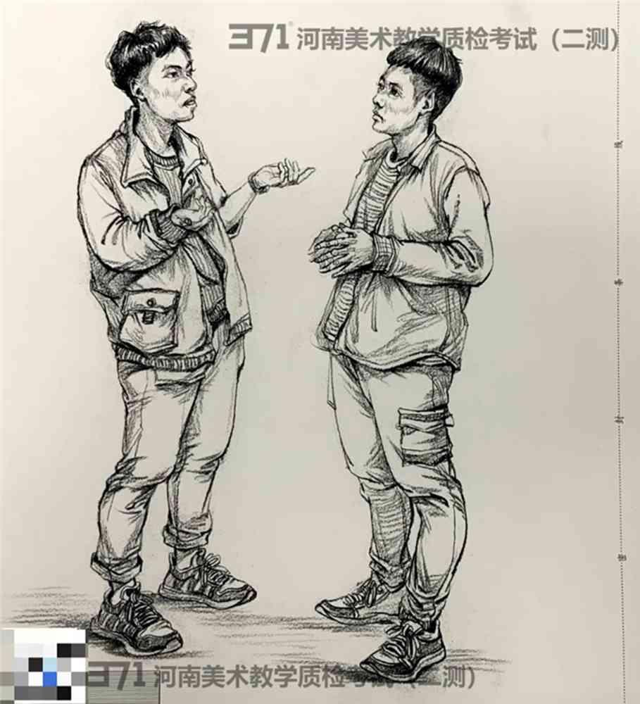 为更好的打磨自己,杭州画室集训班分享2021届河南省二模高分卷,09