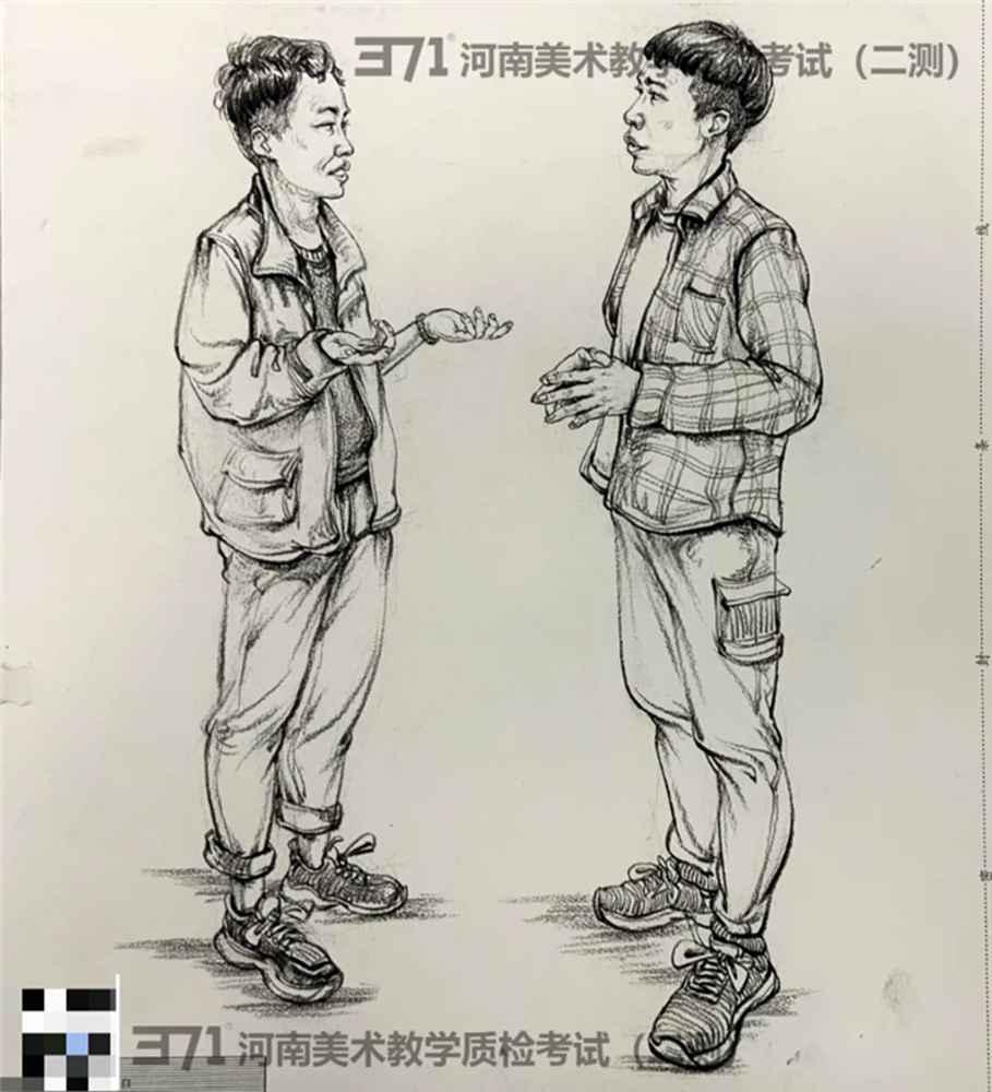 为更好的打磨自己,杭州画室集训班分享2021届河南省二模高分卷,05