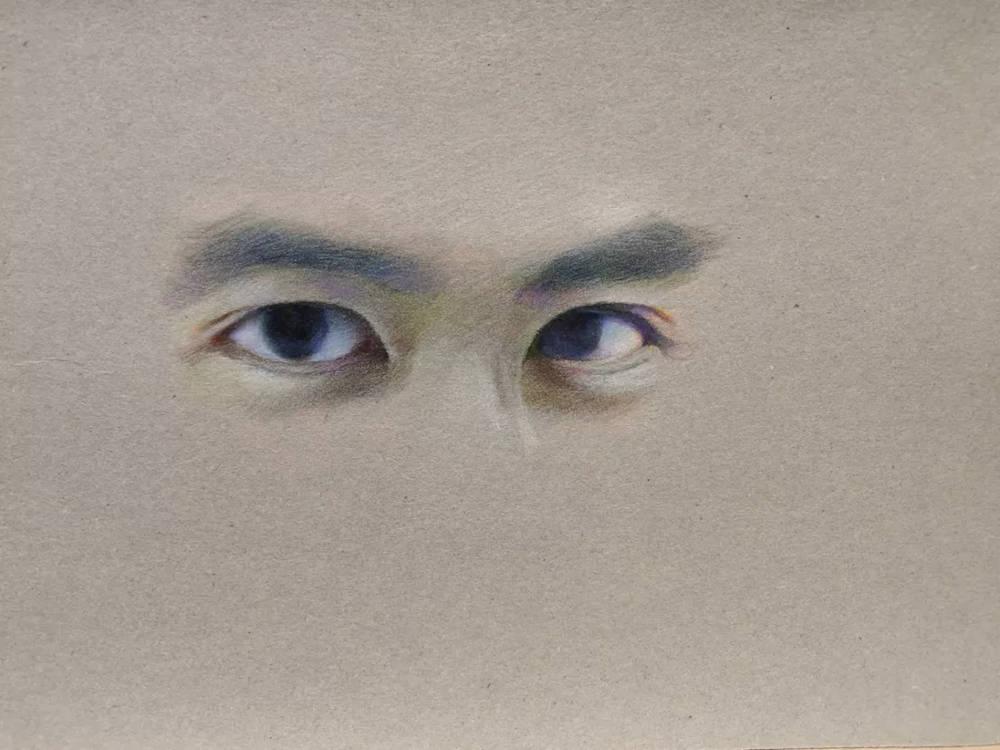杭州艺考画室彩铅教程|画一双男神的眼睛,16