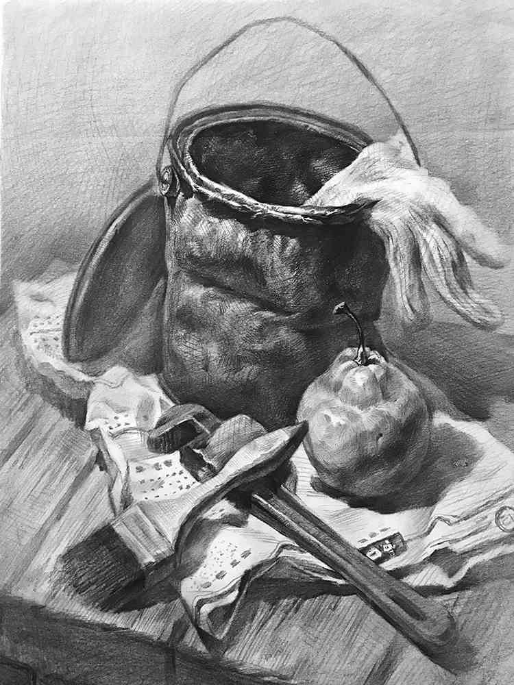 杭州白鹿画室,杭州画室,杭州素描美术培训,17