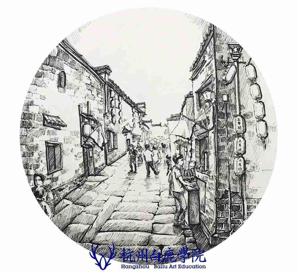 杭州艺考画室写生季 | 杭州白鹿学院下乡写生通知及注意事项,84
