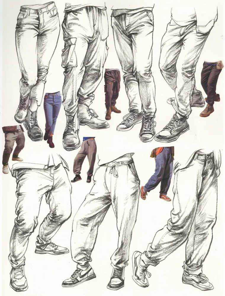 杭州艺考画室超强干货丨速写下肢怎么画?观察是关键,12