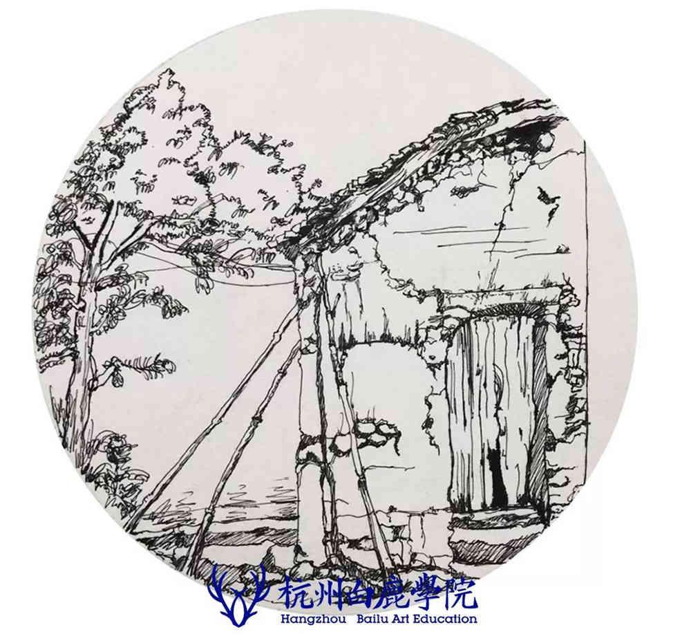 杭州艺考画室写生季 | 杭州白鹿学院下乡写生通知及注意事项,94