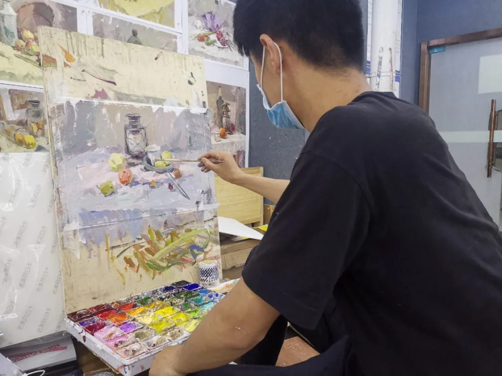 杭州艺考画室日常 | 你说美术生考大学很容易?要不你来试一试,38