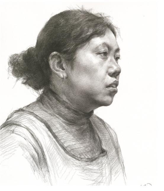 杭州艺考画室教你素描头像刻画之老中青的皮肤质感如何表现,08