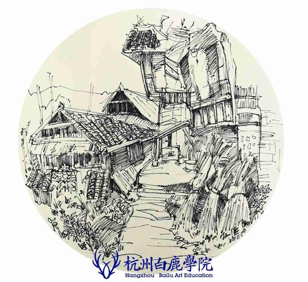 杭州艺考画室写生季 | 杭州白鹿学院下乡写生通知及注意事项,95
