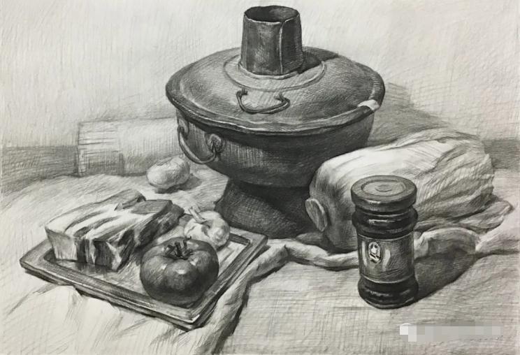 杭州艺考画室素描教程:素描关系是深入刻画的合理,05