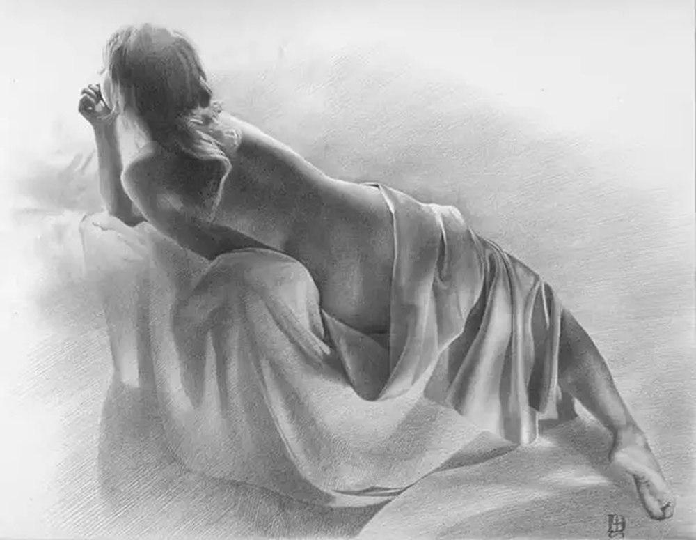 素描这样处理光影,很出彩,杭州艺考画室建议收藏,13