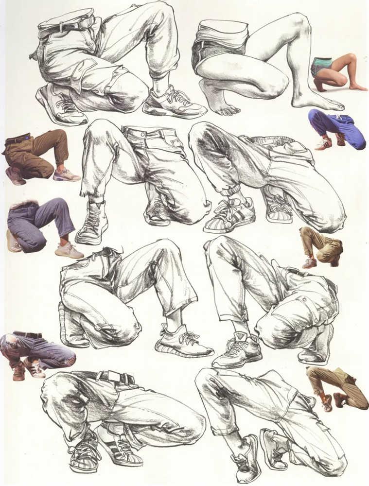 杭州艺考画室超强干货丨速写下肢怎么画?观察是关键,15