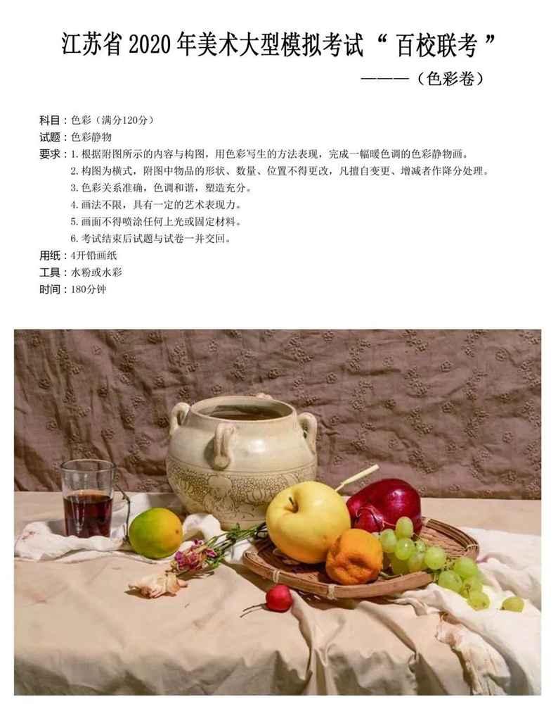 杭州美术培训班带你看21届江苏美术联考一模试卷,16