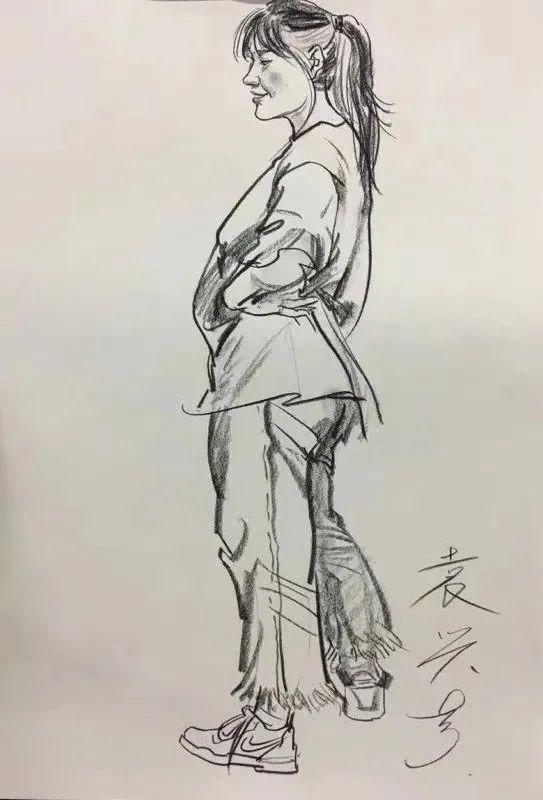 杭州画室集训班速写名师——袁兴芳作品集,17