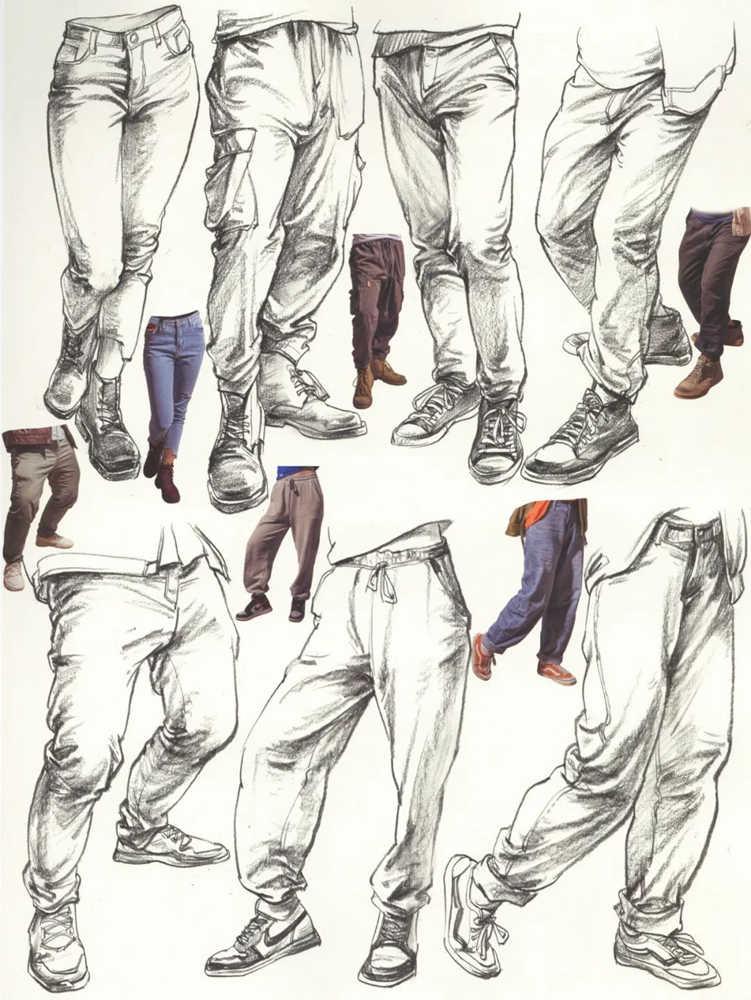 杭州艺考画室超强干货丨速写下肢怎么画?观察是关键,10