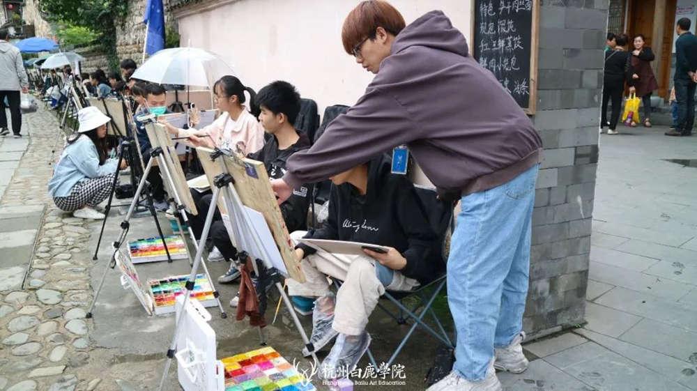 杭州艺考画室白鹿写生季 | 秋天的第一场写生未完待续,47