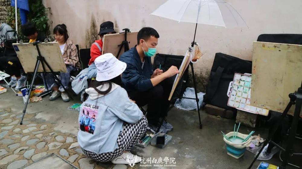 杭州艺考画室白鹿写生季 | 秋天的第一场写生未完待续,45
