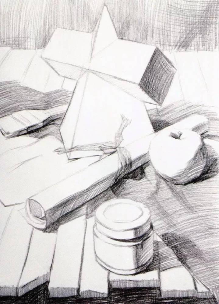 静物素描太难,杭州艺考画室整理的详细教程在里面,09