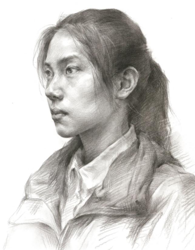 杭州艺考画室教你素描头像刻画之老中青的皮肤质感如何表现,11