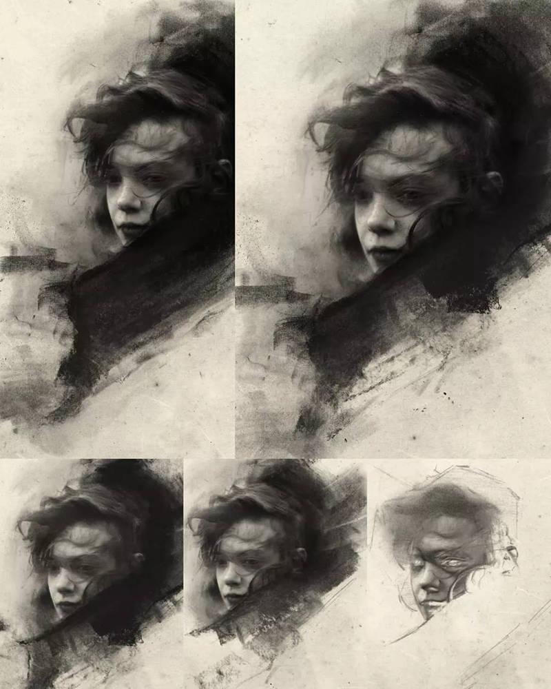 杭州艺考画室整理的一眼就爱的素描,这松动的笔触绝了,40