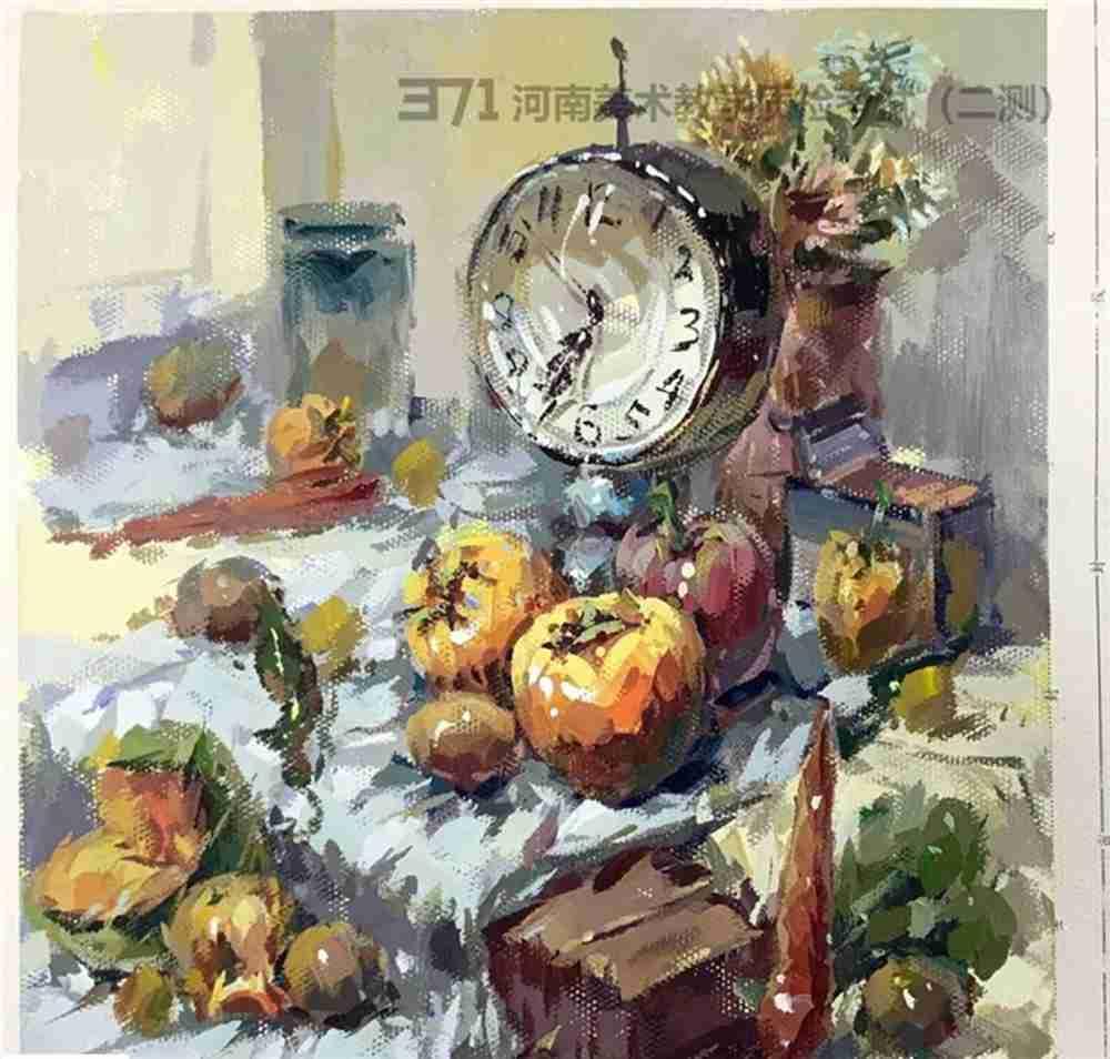 为更好的打磨自己,杭州画室集训班分享2021届河南省二模高分卷,52