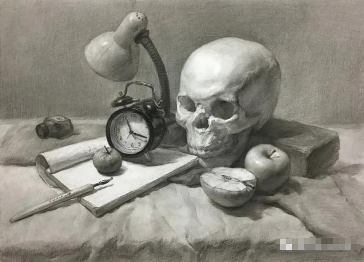 杭州艺考画室素描教程:素描关系是深入刻画的合理,06