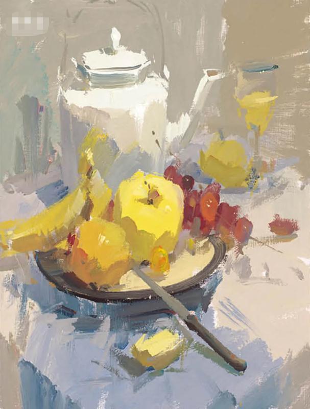 杭州艺考画室色彩静物教程:水果的暗部总是画得脏兮兮的,06