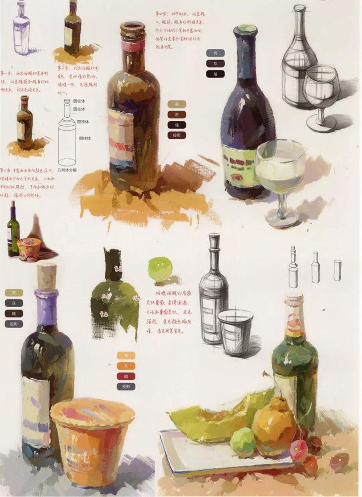 陶瓷、玻璃,金属这些难画的物品,杭州艺考画室给你解析,12