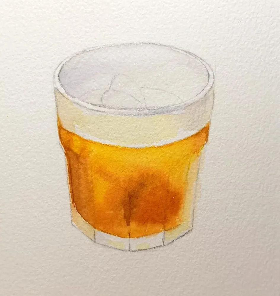 杭州艺考画室水彩教程 | 一杯沁人心扉的凉饮 画法步骤,04