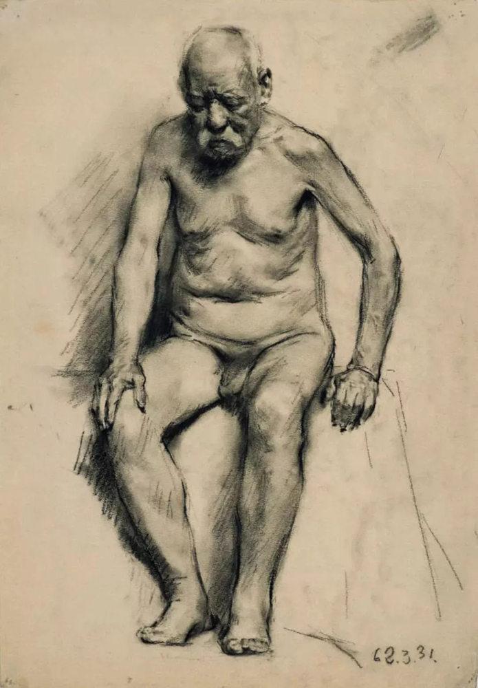 杭州艺考画室给你造型生动,百看不厌的62幅人体素描,09