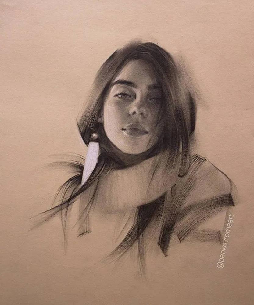 杭州艺考画室整理的一眼就爱的素描,这松动的笔触绝了,14