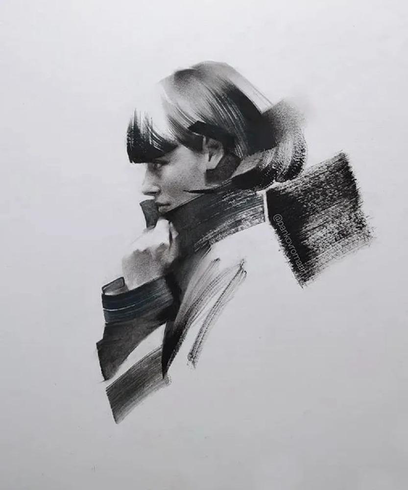 杭州艺考画室整理的一眼就爱的素描,这松动的笔触绝了,04