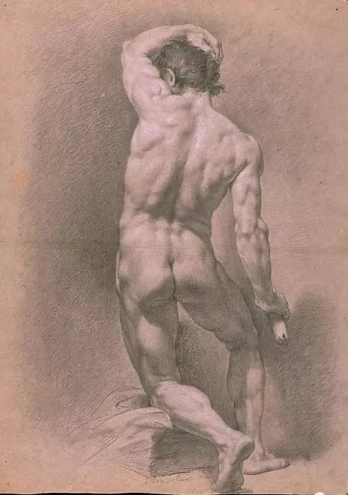 杭州艺考画室给你造型生动,百看不厌的62幅人体素描,38