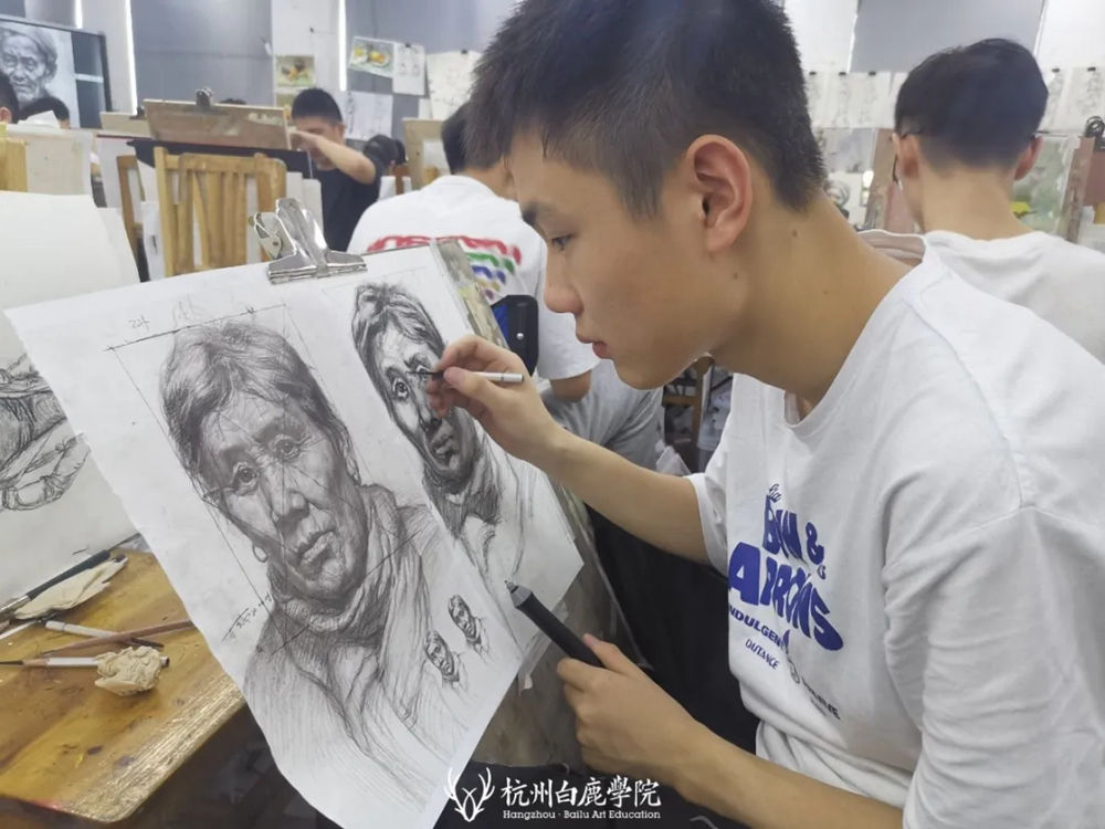 杭州白鹿日常 | 你说艺考美术生考大学很容易?你来试一试,13