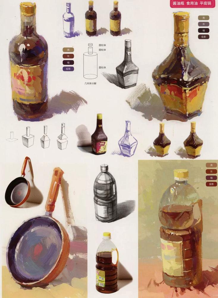 陶瓷、玻璃,金属这些难画的物品,杭州艺考画室给你解析,14