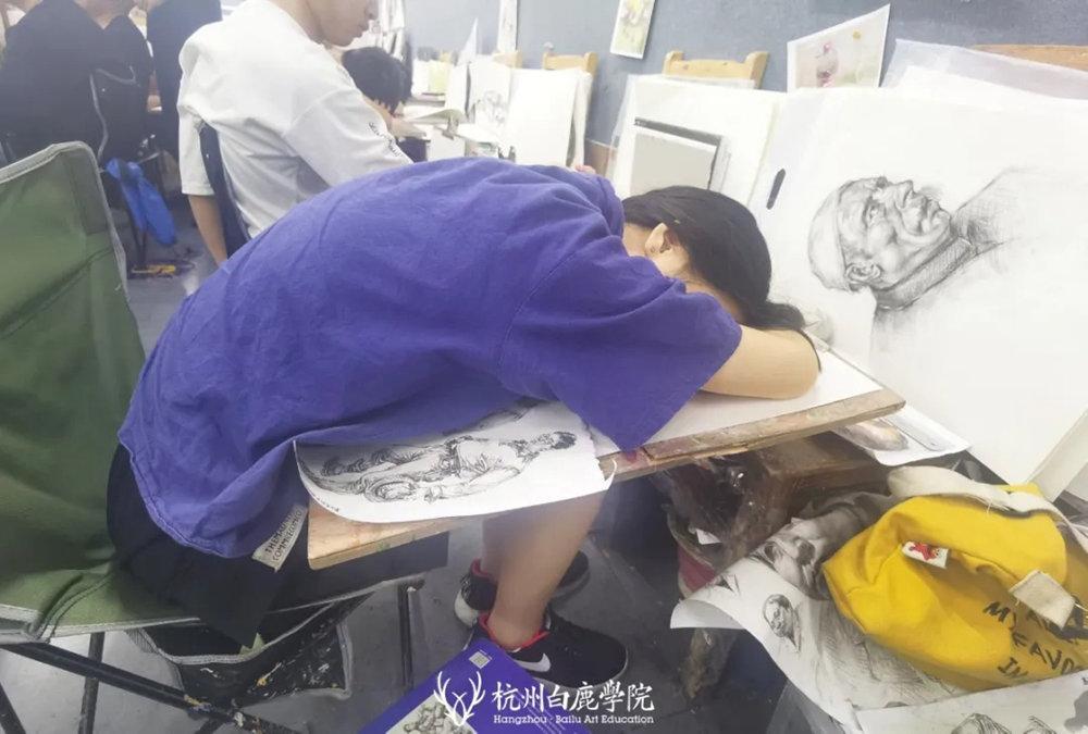 杭州艺考画室日常 | 你说美术生考大学很容易?要不你来试一试,18