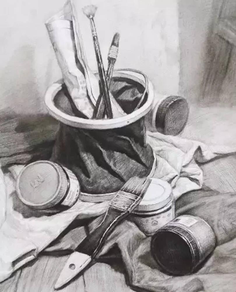 静物素描太难,杭州艺考画室整理的详细教程在里面,20