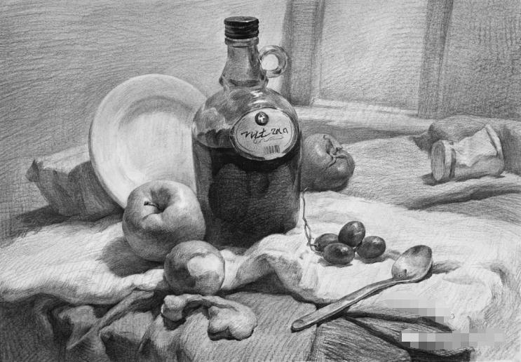 杭州艺考画室素描教程:素描关系是深入刻画的合理,07