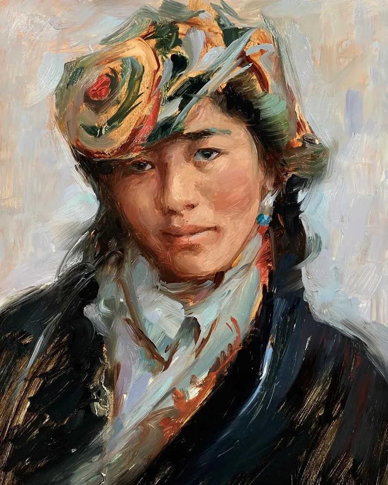 杭州艺考画室色彩教程:画头像,人物神态一定要到位,22