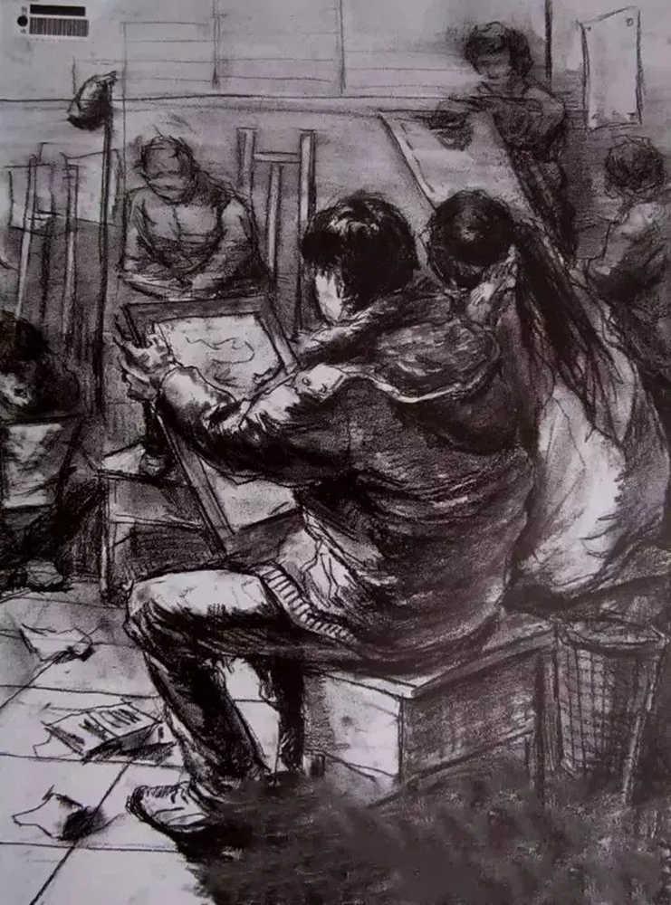 杭州艺考画室给大家整理了央美高分卷-素描、色彩、速写,24