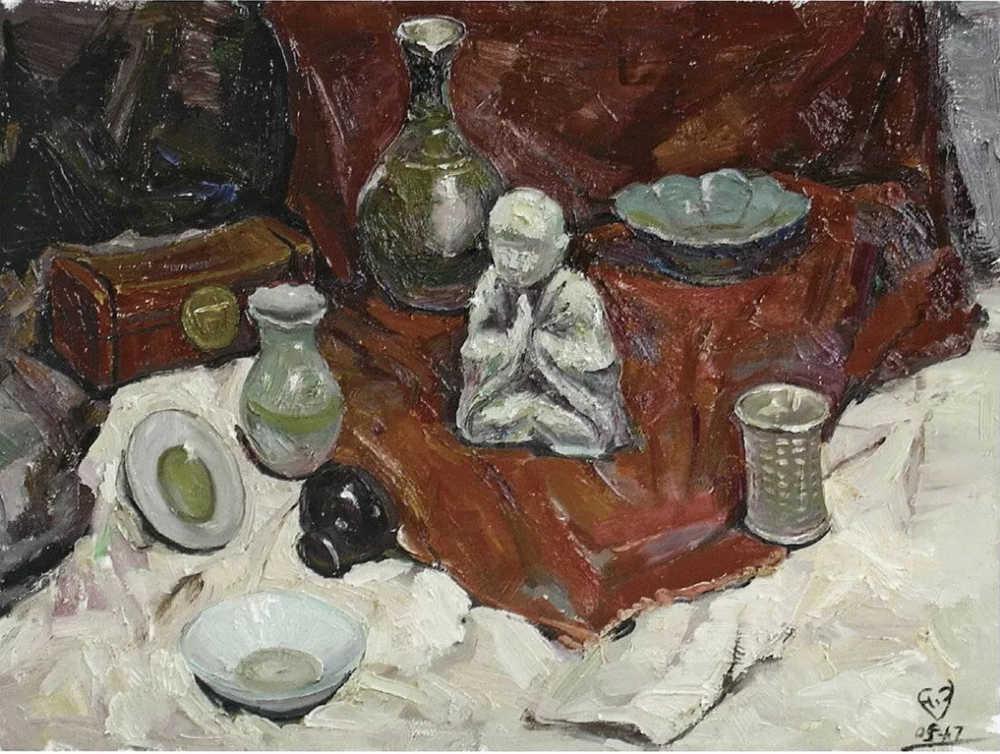 杭州艺考画室给你整理了难得一见的广美基础部收藏级色彩作品,27