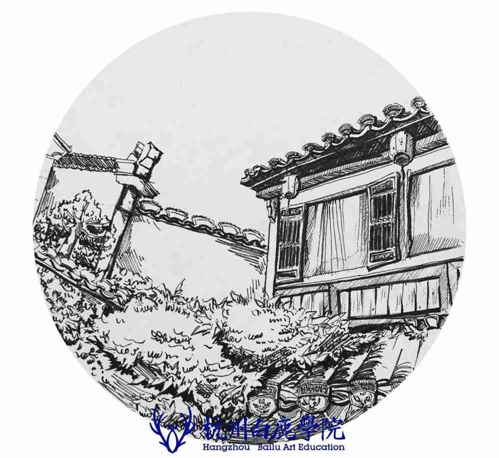 杭州艺考画室写生季 | 杭州白鹿学院下乡写生通知及注意事项,85