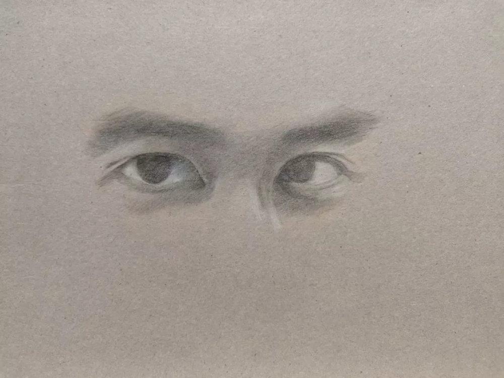 杭州艺考画室彩铅教程|画一双男神的眼睛,06